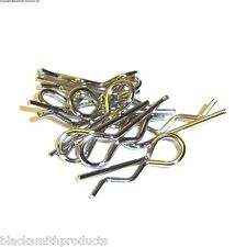 Silver Body Cover Clips Pins Secure Shell 1/10 Large 35mm Long
