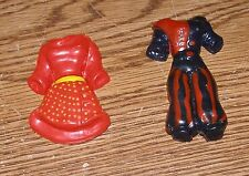Vintage Clothes Refrigerator Fridge Magnets Magnet Set 4 pc Outfits Nice Used