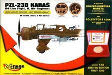 Pzl 23 b karas-ww ii polish bomber 1/48 mirage édition spéciale