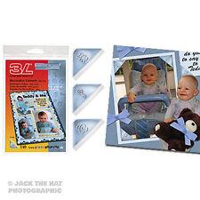 140 x Photo Corners - Baby Boy Blue . Acid-Free Mounts