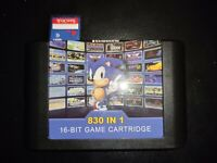 Flash Cart for Sega Mega Drive genesis 830 in 1 with sd card included 32x cd
