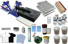 3 Color Screen Printing Press with Dryer Print Materials Kit Starter Hobby Kit
