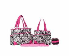 Baby Diaper Bags For Girls Best Gift Set For Mom Zebra Print Changing Pad Travel