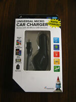 Travelocity Universal Micro Car Charger that Works with all Micro USB Devices