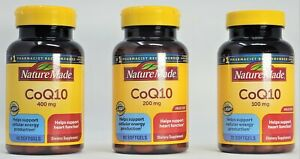NatureMade CoQ10 Dietary Supplement 100/200/400 mg 72/80/40 Softgels EXP. 2023+