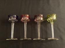 Rare Ensemble de 4 Verres à Pied Couleur Cristal de Baccarat Impeccables