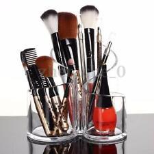 Acrylic Clear Cylindrical Holder Brush Makeup Cosmetic Organizer Storage Box AU