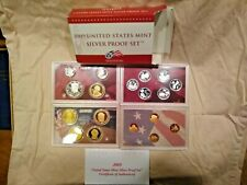2009 United States Mint Silver Proof Set 18 Coins Original Box with COA
