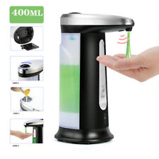 400Ml Auto Touchless Soap Dispensers Liquid Handsfree Bathroom Ir Sensor Dishes