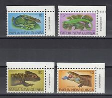 TIMBRE STAMP 4 PAPOUASIE Y&T#336-39 LEZARD LIZARD NEUF**/MNH-MINT 1978 ~B05