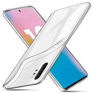 For Samsung Galaxy Note10+ 5G (Plus) Case Clear Silicone Ultra Slim Gel Cover