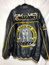 Schott NYC Perfecto 100% Leather PHARAOHS Black Jacket USA Made RARE Size 4XL