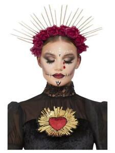 Day of the Dead Sunburst Khalo Inspired Halloween Headdress