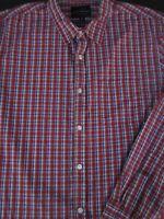 Lucky Brand Mens Button Front Long Sleeve Cotton Plaid Shirt Medium M