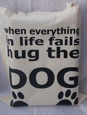 Tote Bag for dog lovers ideal fun gift for mothers fathers day or birthday