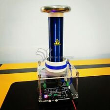 120V Solid Music Tesla Coil DIY Lightning Model Educational Toy with Adapter