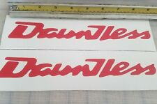 Boston Whaler Dauntless Decals