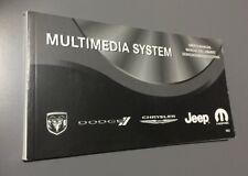 DODGE CHRYSLER JEEP MOPAR MULTIMEDIA CD DVD HDD RB2 SYSTEM USERS MANUAL HANDBOOK