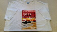 PIZZA MY HEART Postage Stamp T-SHIRT 2016 CAPITOLA X LARGE XL