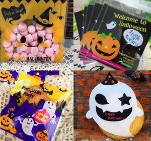 Halloween Sweet Candy Cookie Biscuit Treat Seal Bags Pumpkin Ghost