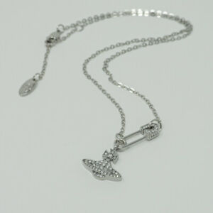 Vivienne Westwood Lucrece  Necklace-Slivery with Pouch
