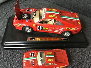 My Ferrari model cars collection including GTO 1984 1/24 scale and 1/48