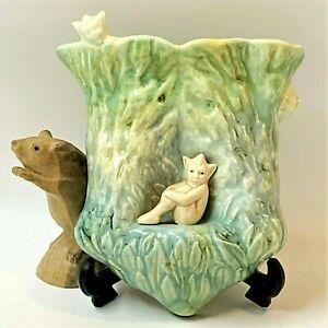 SylvaC English Ceramic Pixie / Imp Wall Pocket Vase #320, Vintage Late Art Deco