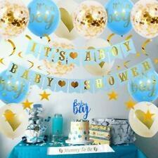 Its A Boy Baby Shower Party Decorations Supplies Balloons Sash Blue And Gold Set