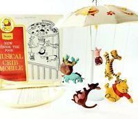 Vintage1975 Disney Sears Winnie The Pooh Musical Crib Mobile Baby Nursery Works