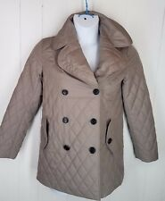 Aquascutum Jacket size 6/38 tan quilted coat button front womens