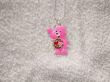 Love Rosa mucho cuidado Oso Inspirado grande Collar de encanto
