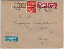 PORTUGAL -  POSTAL HISTORY: AIRMAIL Cover to ITALY 04.07.1940 - ALA LITORIA LATI