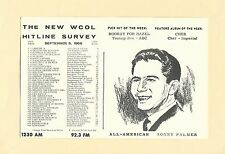 WCOL Radio Music Hit Line Survey Columbus Ohio September 5, 1966 DJ SONNY PALMER
