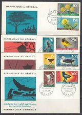 Senegal Scott C53-7 FDC - Flowers & Birds