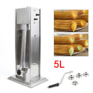 Vertical Manual Churro Maker Press Extractor Churro Waffle Machine Stainless