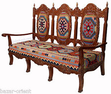 luxuriöse orient kelim 3sitzer Sessel sofa Bank couch 3 seater kilim chair  G