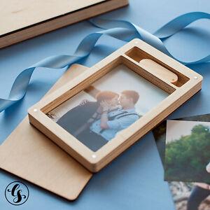 "USB Flash Drive Wooden Box Engraved Logo Wedding Photography 8GB 64GB 4x6"""