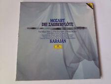 "KARAJAN ""MOZART DIE ZAUBERFLÖTE"" 3 LP BOX SET LIBRETO CASTELLANO MBE/EX VG/EX"