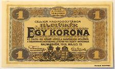 Hungary 1916 - 1 Korona - Hajmasker Prisoner of War Camp Banknote - Uncirculated