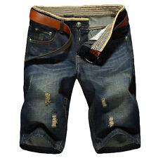 Summer Blue Denim Pants MEN'S JEANS SHORTS Formal Pants Trousers New S - XL