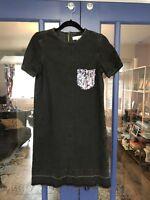 River Island Denim Dress, Size 8, Sequin, Excellent Condition