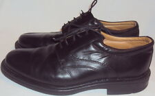 STAFFORD, MEN'S BLACK ITALIAN LEATHER HAND CRAFTED OXFORD, SIZE  44 1/2 A