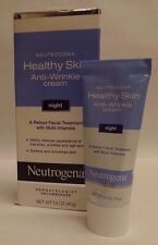 Neutrogena Healthy Skin Anti Wrinkle Cream Night Treatment 1.4 oz Exp 05/18 +