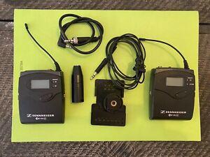 Sennheiser EW100 G3 Camera mount wireless Microphone System with Lav Mic (EK SK)