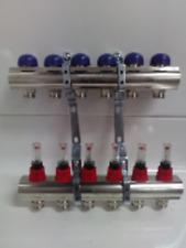 Nibco 6 Port Nickel Plated Brass Radiant Heat Manifold