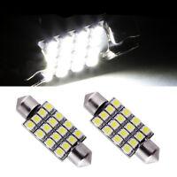 2 ampoules à LED navette 42  mm 16 LED éclairage plafonnier C5W  Blanc 6000k