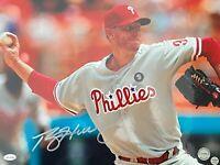 ROY HALLADAY IMPERFECT AUTOGRAPHED SIGNED Philadelphia PHILLIES 11x14 PHOTO COA