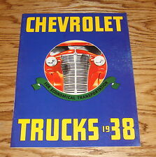 1938 Chevrolet Truck Full Line Sales Brochure 38 Chevy Pickup Suburban Panel