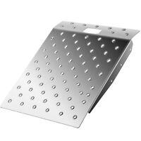 VEVOR Aluminum Curb Ramp Aluminum Ramp For Threshold 29''x24'', Portable Handle