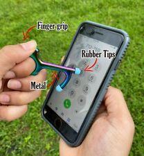2pk Metal Touchless Door Opener Handle Tool Hygiene Key Stylus Keychain Keyring